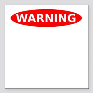 """Warning May Contain Alco Square Car Magnet 3"""" x 3"""""""
