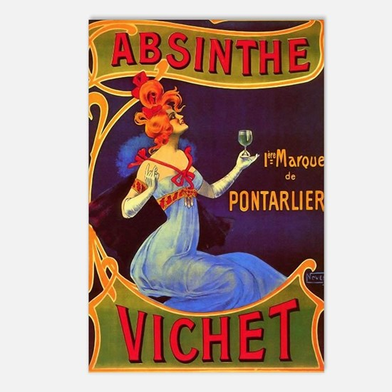 Absinthe Poster Vintage F Postcards (Package of 8)