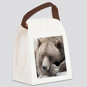 Lazy grizzly Canvas Lunch Bag