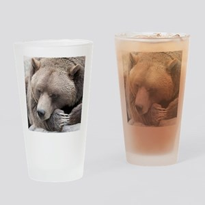 Lazy grizzly Drinking Glass
