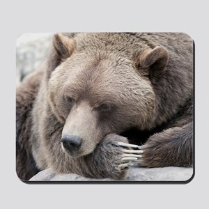 Lazy grizzly Mousepad