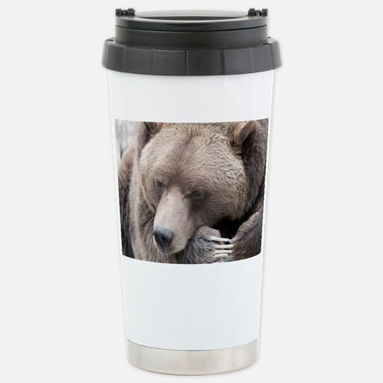 Lazy grizzly Stainless Steel Travel Mug