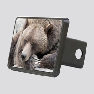 Lazy grizzly Rectangular Hitch Cover