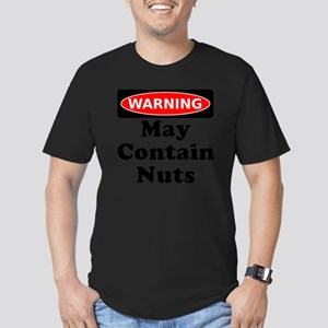 Warning May Contain Nu Men's Fitted T-Shirt (dark)
