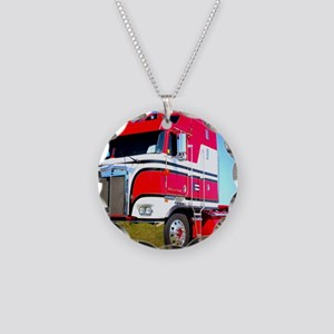 1985 Kenworth Cabover K100 Necklace Circle Charm