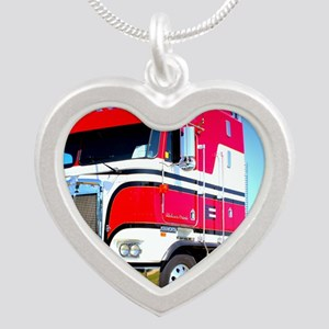 1985 Kenworth Cabover K100 Silver Heart Necklace