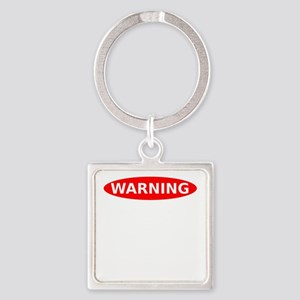Warning May Contain Rage Square Keychain