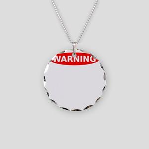 Warning May Contain Rage Necklace Circle Charm