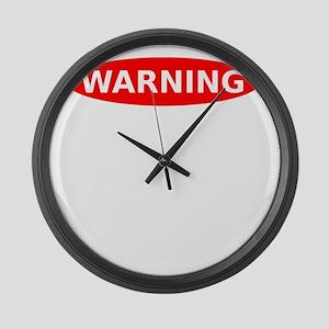 Warning May Contain Rage Large Wall Clock
