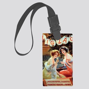 Edwardian Girls Smoking French A Large Luggage Tag