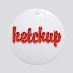 Ketchup Ornament (Round)