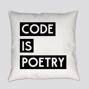 Code is poetry Everyday Pillow