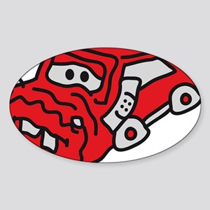 auto_accident Sticker (Oval)