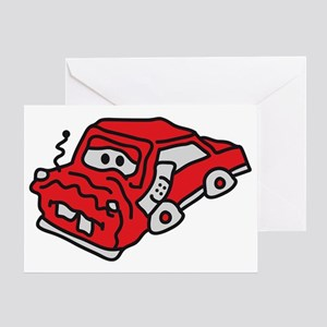 auto_accident Greeting Card
