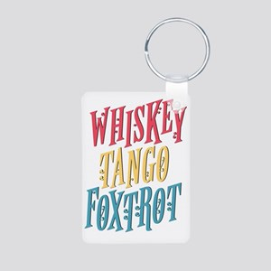 Whiskey Tango Aluminum Photo Keychain