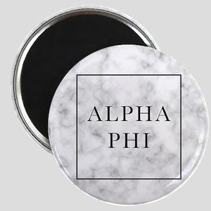 Alpha Phi Marble Magnet