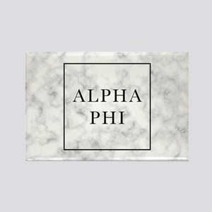 Alpha Phi Marble Rectangle Magnet