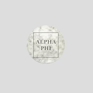 Alpha Phi Marble Mini Button