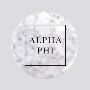 "Alpha Phi Marble 3.5"" Button"