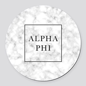 Alpha Phi Marble Round Car Magnet