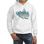 Catholic and Christian (Teal) Hooded Sweatshirt
