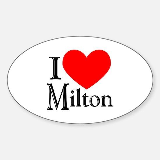 I Love Milton Oval Decal