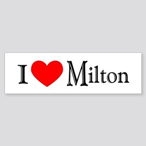 I Love Milton Bumper Sticker
