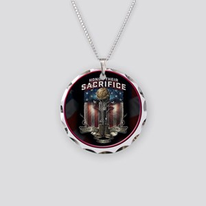 01026 HONOR THEIR SACRIFICE Necklace Circle Charm
