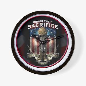 01026 HONOR THEIR SACRIFICE Wall Clock