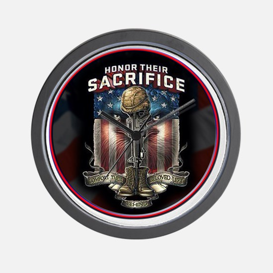 01026 HONOR THEIR SACRIFICE Wall Clock