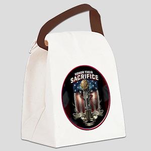 01026 HONOR THEIR SACRIFICE Canvas Lunch Bag