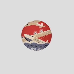 Retro Airplanes New York Mini Button