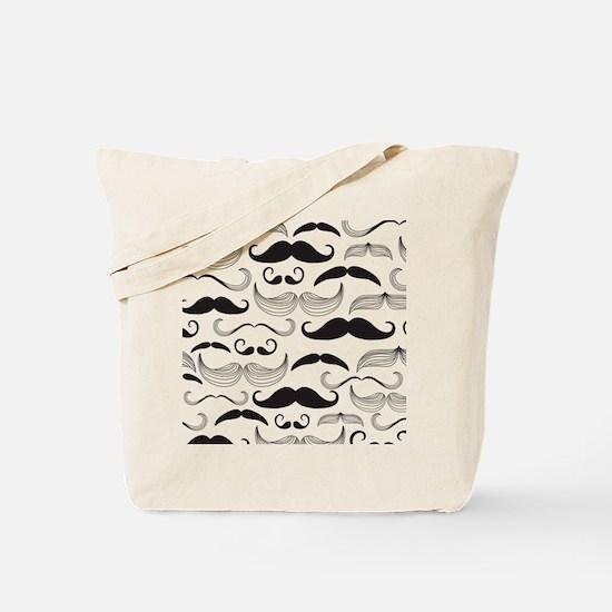 Mustache Black Tote Bag