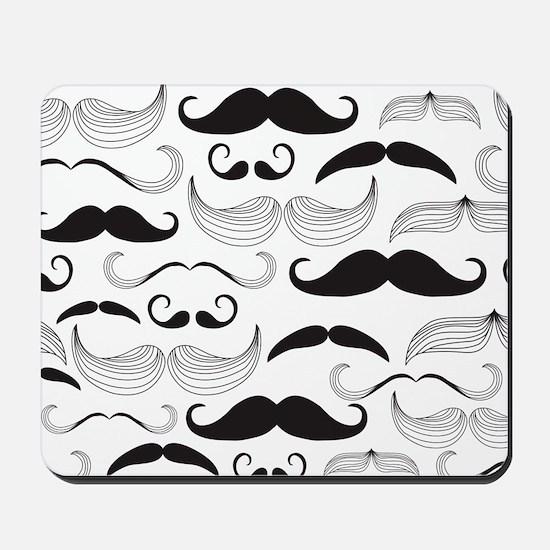 Mustache Black Mousepad