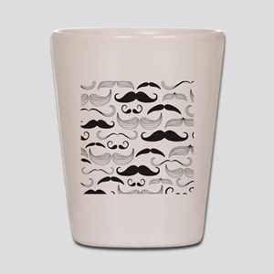 Mustache Black Shot Glass