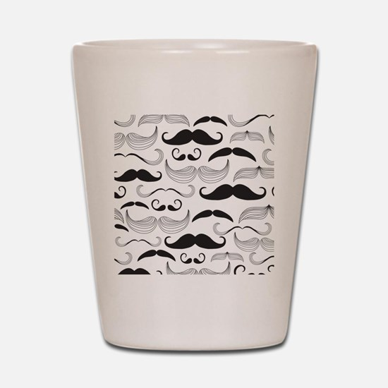 Mustache Black Shot Glass