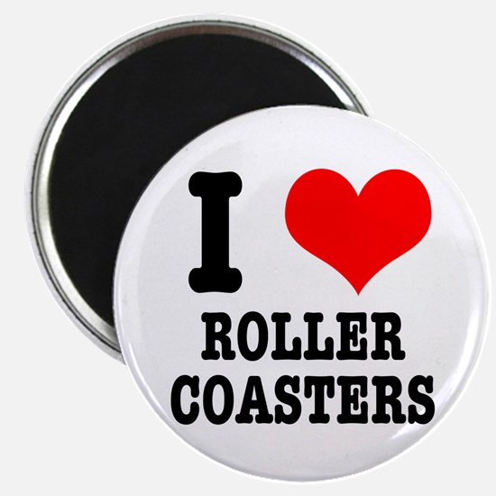 "I Heart (Love) Roller Coasters 2.25"" Magnet (10 pa"