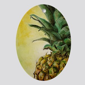pineapple 2 Oval Ornament