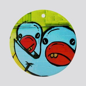 NOLA Blue Bird Graffiti Round Ornament