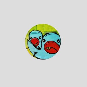 NOLA Blue Bird Graffiti Mini Button
