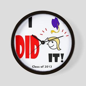 I Did It-lg bl Wall Clock