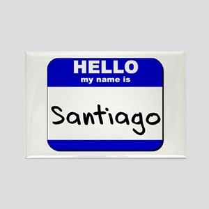hello my name is santiago Rectangle Magnet