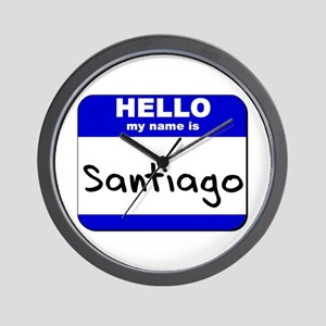 hello my name is santiago  Wall Clock