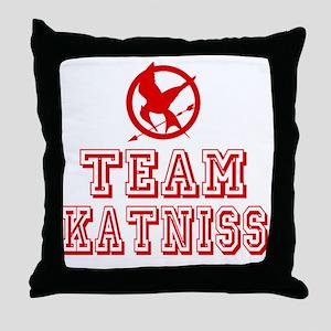 Hunger Games Team Katniss Throw Pillow