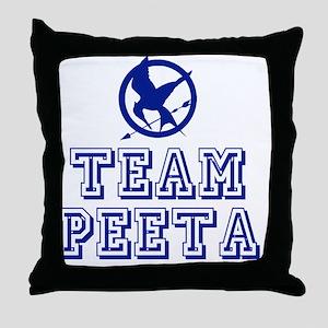 Hunger Games Team Peeta Throw Pillow