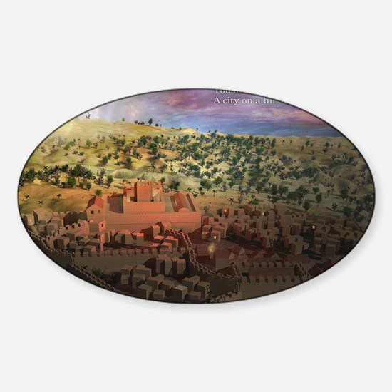 City on a Hill, Image Two Sticker (Oval)