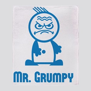 MR GRUMPY moody angry sour face icon Throw Blanket