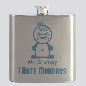 MR GRUMPY I hate Mondays moody angry face fu Flask