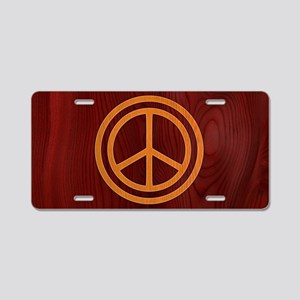 woody-peace-OV Aluminum License Plate