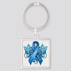 I Wear Blue for my Granddaughter Square Keychain
